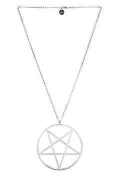 """Large In Yer Face Pentagram Necklace - Made from Stainless Steel. - Reinforced Design & Exceptional Quality. - Huge 4""""/10cm Pendant. - Long chain, 28""""/71cm Each necklace comes in a black velvet gift b"""