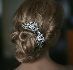 Bridal hair combs  2 pieces crystal hair comb  by Lolambridal, $120.00