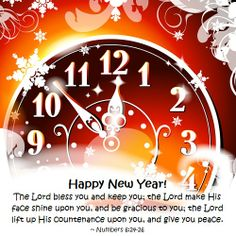 happy new year the lord bless you and keep you the lord make his