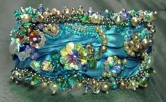 "~~""Spring's Blossoms"" beaded bracelet by Gail Nettles~~ [corrected slight overexposure]"