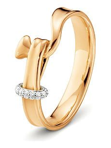 GEORG JENSEN Torun 18ct rose-gold and diamond ring