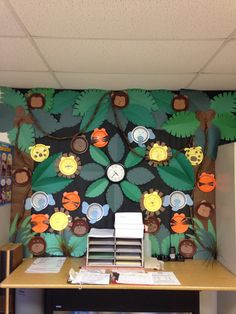 Jungle wall for classroom