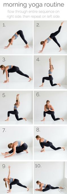 "10 morning yoga poses pin --- <a href="""" rel=""nofollow"" target=""_blank"">www.nourishmovelo...</a>"