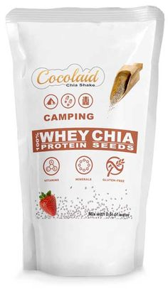 Cocolaid - CAMPING - Chia Shakes - WHEY & CHIA. Complete Meal Shakes Chia Seeds Protein, Soy Protein, Meal Shakes, Weight Loss Shakes, Shake Recipes, Vitamins And Minerals, Chips, Gluten, Snacks