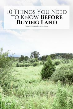 10 Things You Need to Know Before Buying Land - Home Buying - Home Buys ideas - - 10 things you need to know before buying land that will help you make an educated decision you wont regret! Build Your Own House, Build Your Dream Home, Home Building Tips, Building A House, Building Ideas, Building Your Own Home, Natural Building, Green Building, Home Design