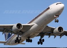 Singapore Airlines 9V-SGC Airbus A340-541 aircraft picture