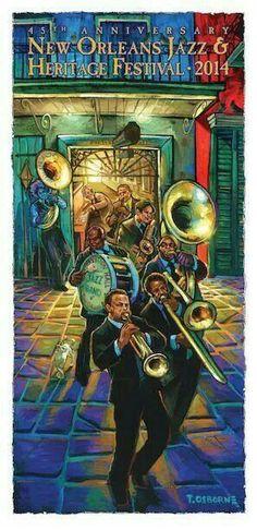 New Orleans Jazz Festival Cartel Festival, Jazz Festival, Festival Posters, Concert Posters, Music Posters, Art Posters, Travel Posters, Louisiana Art, New Orleans Louisiana