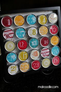 Cutest Advent Calendar Idea for my teen girls!!!  I am so making this for next year!  :D