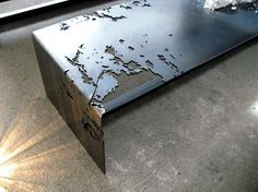Laser cut steel coffee table...Benidorm, Spain, España