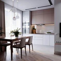 Дизайн кухни. Один из многих вариантов) #interiordesign #interiordesigner #design #designer #designinterior #interior #coronarender #visualisation #дизайн #дизайнинтерьера #интерьер #дизайнквартиры