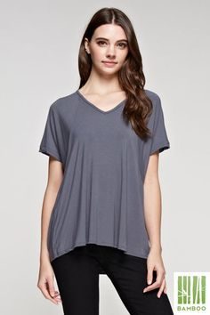 bamboo clothing, Bamboo Loose Fit Tunic Tops 24052
