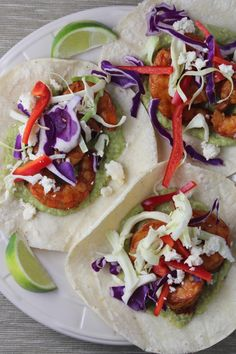 Chili Lime Grilled Shrimp Tacos in under 30 Minutes