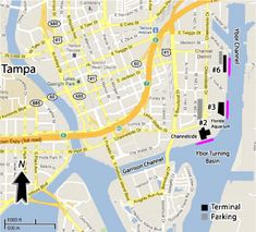 Tampa Cruise Port Map @ www.cruisetimetables.com/cruises-from-tampa-florida.html