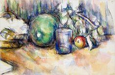 Cezanne watercolor study