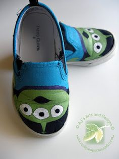 Shoes I painted for my son using PLAID® Paints and Mod Podge