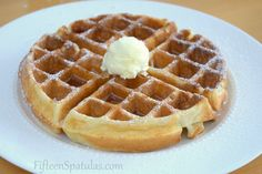 Super crispy waffles recipe  Tried baby loves it very much. I half the recipe, made 5 waffles. Added some baking soda n replace with orange liquor.