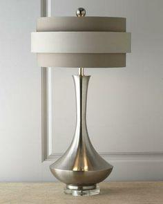 John-Richard Collection Neutral Orbit-Shade Table Lamp - Neiman Marcus Interior Lighting, Home Lighting, Modern Lighting, Lighting Design, Desk Lamp, Table Lamps, Tables, Lamp Light, Floor Lamp