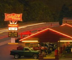 """Wright's Dairy Rite, 346 Greenville Ave, Staunton, VA 24401 """"Forester Wright...1950s....Dairy Queen sued him, but...he won. """"My grandfather opened this spot selling strictly ice cream,"""" says Jim Cash... """"He was really intuitive about trends, and in the late '50s, he added a food menu and a drive-in."""" If you stop in today, ask for the Super Burger: two patties, shredded lettuce, and special sauce. You can order it from the same drive-up speakers that Wright installed in the '60s."""