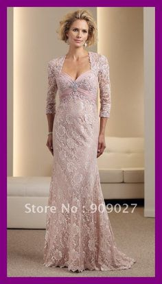 lace dresses for mother of the bride | Chiffon Lace Floor Length Designer Mother Of The Bride Groom Dresses ...