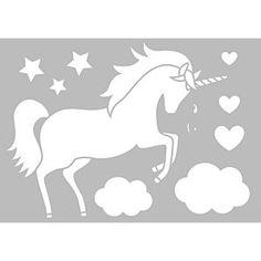 Plantilla de stencil Unicornio