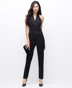 Red Carpet Your Way: Try These Celebrity Style Accents At Home!- Ann Taylor tuxedo jumpsuit