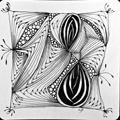 Betweed Zentangle Pattern Tile for Square One: Purely Zentangle Facebook group challenge