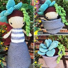 Flora, The Succulent - Crochet Pattern by {Amour Fou} Gato Crochet, Crochet Dolls, Crochet Hats, Half Double Crochet, Single Crochet, Knitting Patterns, Crochet Patterns, Stuffed Toys Patterns, Crochet Animals