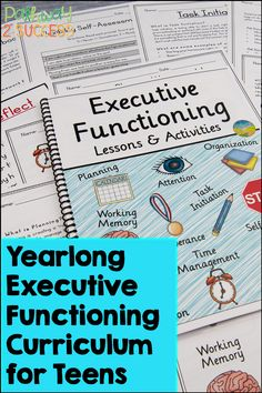 Let's TEACH executive functioning skills to kids and young adults! Use these lessons and activities to support students with organization, time management, self-control, and more. Materials include printable and digital lessons you can use right away. #pathway2success Academic Success, Student Success, School Levels, Executive Functioning, Social Emotional Learning, Study Skills, Special Education Teacher, Young Adults, Learning Tools