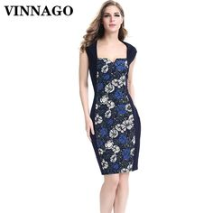 Cheap summer dress floral, Buy Quality pencil dress directly from China summer dress Suppliers: Vinnago Woman's Summer Dress Floral Print Elegant Bodycon Dresses Pinup Casual Party Work Office Sheath Pencil Dress Women 2017 Cheap Summer Dresses, Beach Dresses, Summer Dresses For Women, Formal Dresses, Sheath Dress, Bodycon Dress, Casual Party, Pencil Dress, Pinup