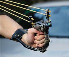 $ 200.00 ~ hunting Powerful Slingshot Folding Wrist Sling Shot  Powerful Spring  High Velocity Brace Hunting Catapult P-ZK