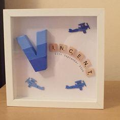 Personalized Scrabble Frame by HandcraftedByChloe on Etsy