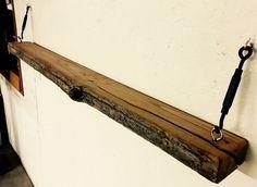 Floating shelf from reclaimed barn beam...