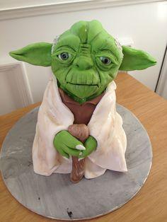 Yoda birthday cake  Mai iced Cakes