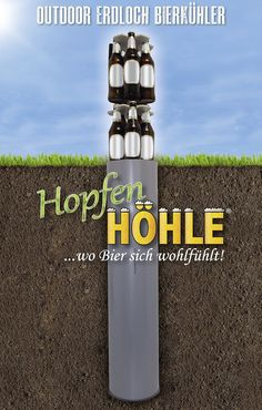 HopfenHöhle: Outdoor Erdloch Bierkühler, Bar-Gadget, Bier-Geschenk (Universal: 15x 0.5l / 0.33l Stups / 0.33l Langhals)