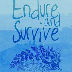 Endure and Survive Poster inspired by The Last of Us game.