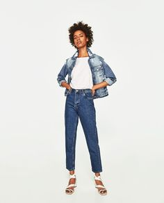 HIGH-RISE MOM FIT JEANS WITH BELT-View all-JEANS-WOMAN-COLLECTION AW/17 | ZARA United States