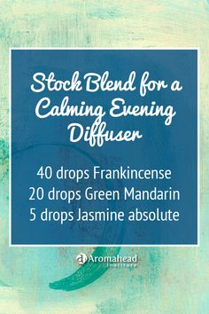 This essential oil blend is resinous, with warm floral notes and a hint of bright citrus. All three oils are calming and reassuring—so this blend is the perfect companion for a relaxing evening! Use 10 drops in your diffuser.