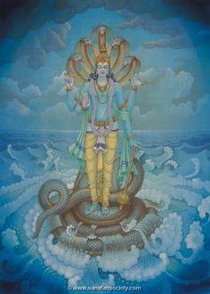 Hindu Gods : Vishnu - Hindu God with 10 avatars (incarnations) - includes many pics of paintings Krishna Statue, Krishna Art, Radhe Krishna, Lord Krishna, Shiva, Buddha, Lord Ganesha Paintings, Lord Vishnu Wallpapers, Hindu Dharma