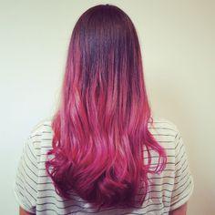 #fancy #pink #ombré #balyage #haircolor for Fernanda today! #colourfade #colorfade #color #colour #pinkhair #lucylocks