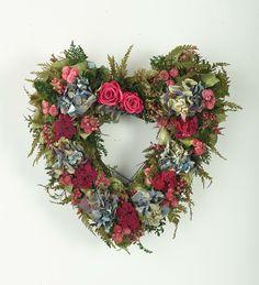 Pink & Blue Heart Wreath
