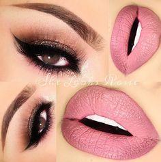 Kat Von D's Lolita liquid matte lipstick on the lips