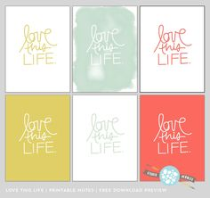Gorgeous Love This Life Project Life freebie from Studio Pebbles Free digital Journaling cards Project Life Freebies, Project Life Layouts, Project Life Cards, Printable Cards, Printable Planner, Free Printables, Mini Albums, Kikki K, Digital Project Life
