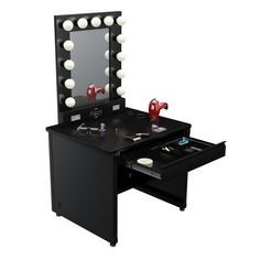 Makeup Vanity... This is a dream    http://www.vanitygirlhollywood.com/products/lighted-vanity-makeup-tables/broadway-lighted-vanity-makeup-table.php