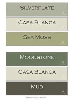 Groen in het interieur Groen is representatief voor hoop en groei.  In een woonkamer brengt groen rust en evenwicht als je vermoeid of gestresseerd bent In de werkkamer bevordert groen de concentratie Groen kan in zachte nuances voor elke kamer Interior Paint Colors For Living Room, Wall Paint Colors, Paint Colors For Home, House Colors, Yoga Studio Design, Lets Stay Home, Kitchen Wall Colors, Paint Shades, Bedroom Green