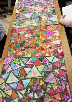 Mosaique de papier pour enfants et initiation à l'aquarelle. — Steemit Painting For Kids, Art For Kids, Kid N Play, Cute Kids Crafts, Initiation, Activities For Kids, Decoupage, Street Art, Paper Crafts