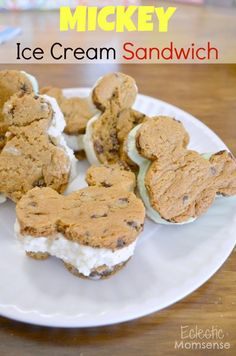 Mickey Ice Cream Sandwich | Eclectic Momsense | http://eclecticmomsense.com #Disney #DisneySide, Mickey, Ice-cream