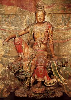Guanyin Bodhisattva in Royal ease posture, Liao Dynasty