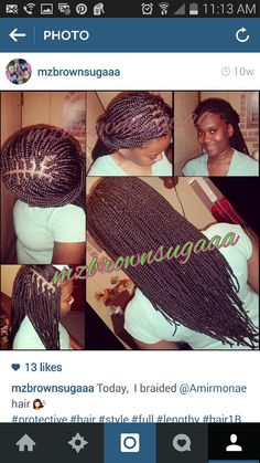Box braids.  Medium small. Long. Hair Xpression.  Color #2.