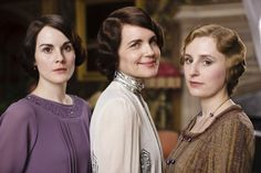 Michelle Dockery, Elizabeth McGovern and Laura Carmichael in Downton Abbey (2010)