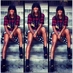 Weekend Instagram Hot! or Hmm… Selita Ebanks, Naomi Campbell, Kelly... ❤ liked on Polyvore